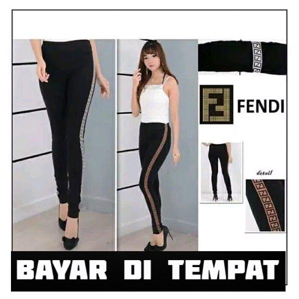 Celana Wanita Legging List Samping Leging Fashion Lazada Indonesia