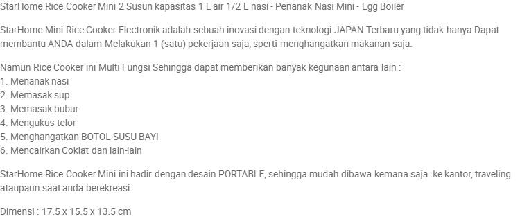 Rice Cooker Mini 2 Susun kapasitas 1 L air - Penanak Nasi Mini - Egg Boiler | Lazada Indonesia
