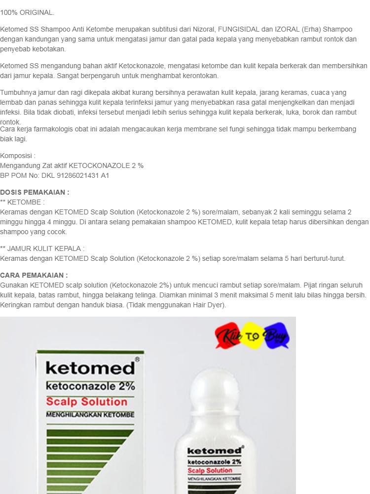 Ketomed Ss Scalp Solution Menghilangkan Ketombe Shampo Anti Ketombe Shampoo Anti Jamur 60 Ml Lazada Indonesia