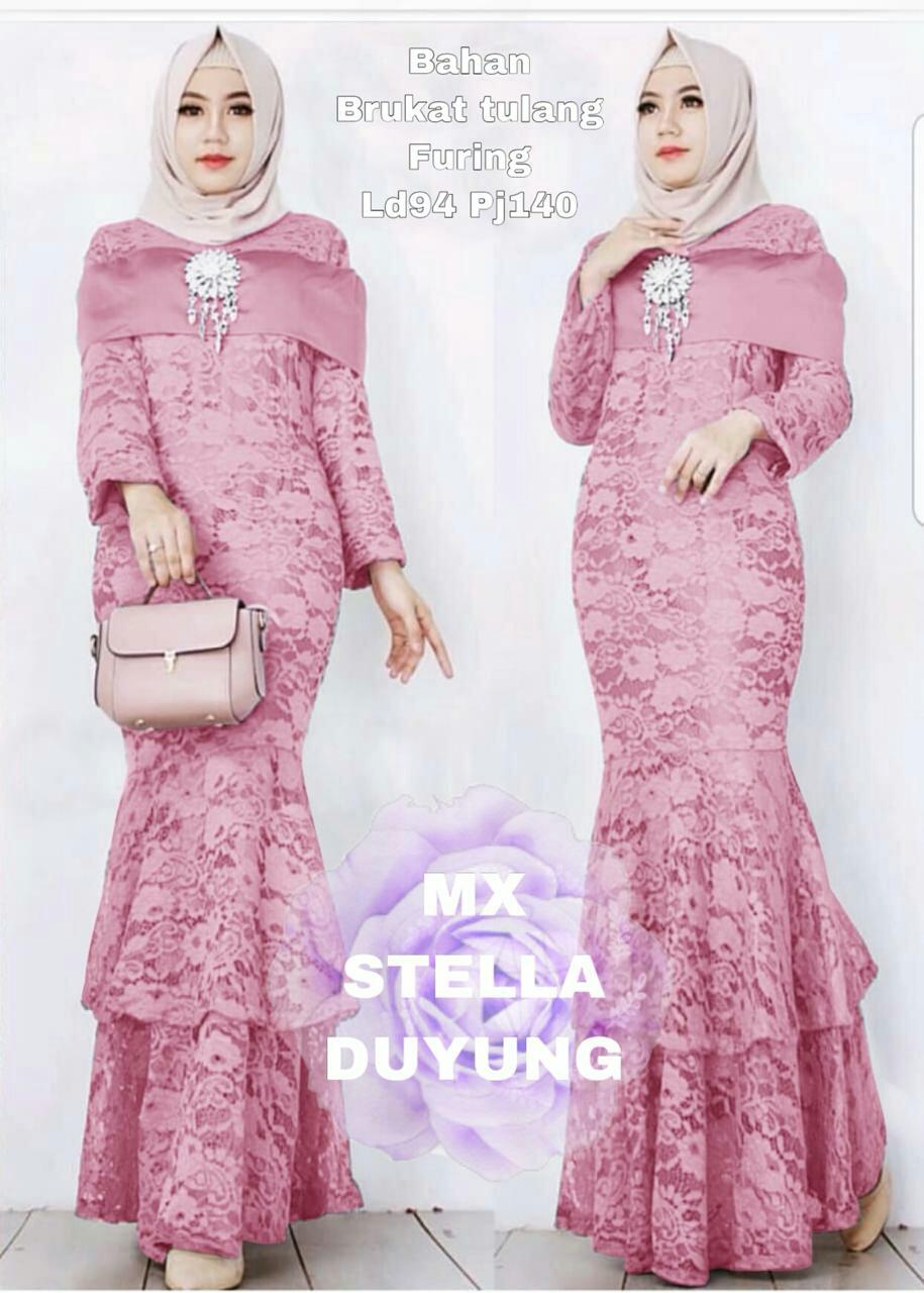 DMoes Collection - Gamis MX Duyung Matt Brokat Tulang , Ban dada bahan  Moscrepe / LV Gamis pesta Gamis simple fashion Gamis wanita Gamis dewasa  Gamis