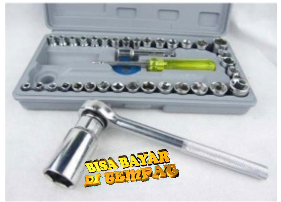 Spesifikasi dari Kunci Socket Aiwa - Kunci Sock Aiwa - Pas Sok Shock Sock Set 40 Pcs - Obeng Sock