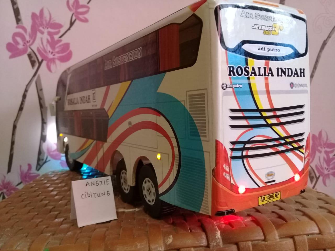 Miniatur Bus Bis Rosalia Indah Double Decker Lampu Lazada Indonesia