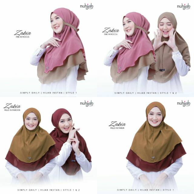 Bisa Cod Model Terbaru Hijab Bergo Zakia Maryam 2 Layer Bolak Balik Bergo Maryam 2layer Beda Warna 1 Hijab Bisa 2 Model Lazada Indonesia