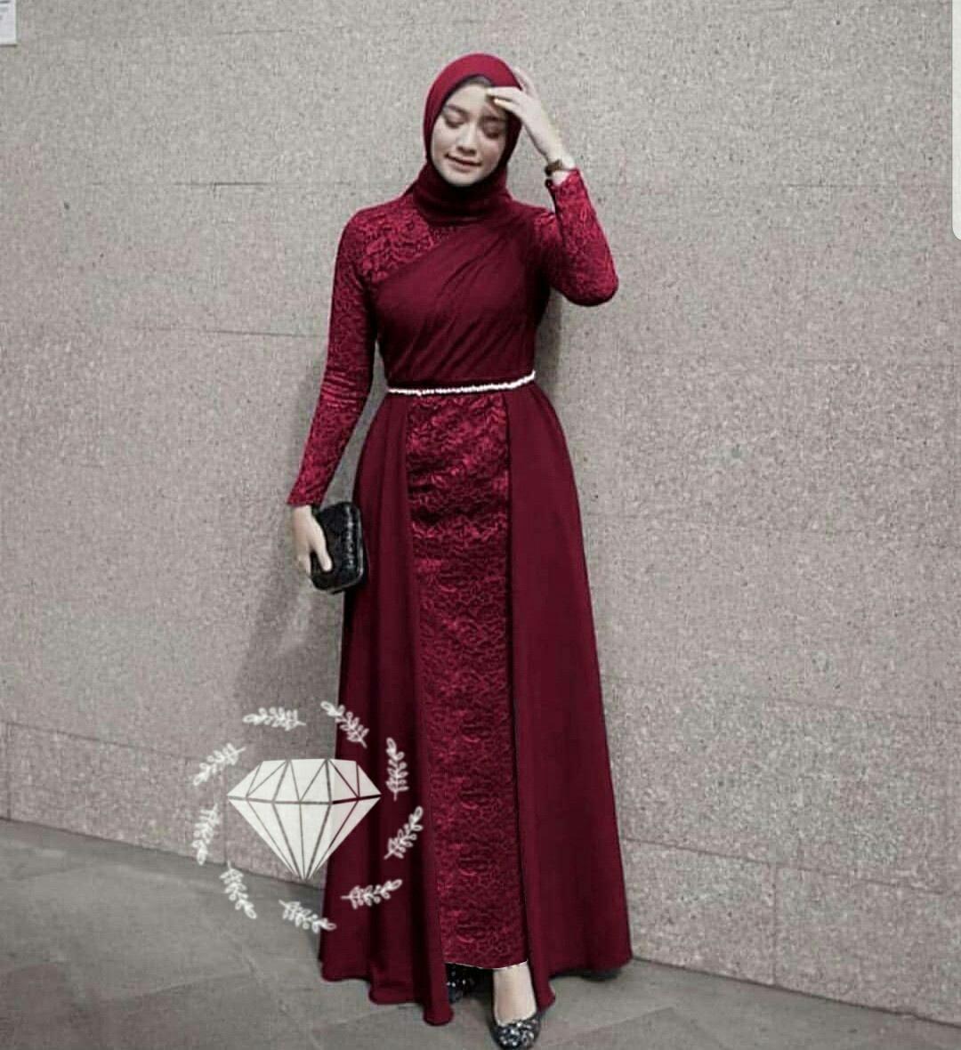 Gamis Brokat Wanita Terbaru Gaun Pesta Brokat Gaun Brukat Wanita Gamis Brukat Wanita Berkualitas Wibisana Store Alg Laksha Lazada Indonesia