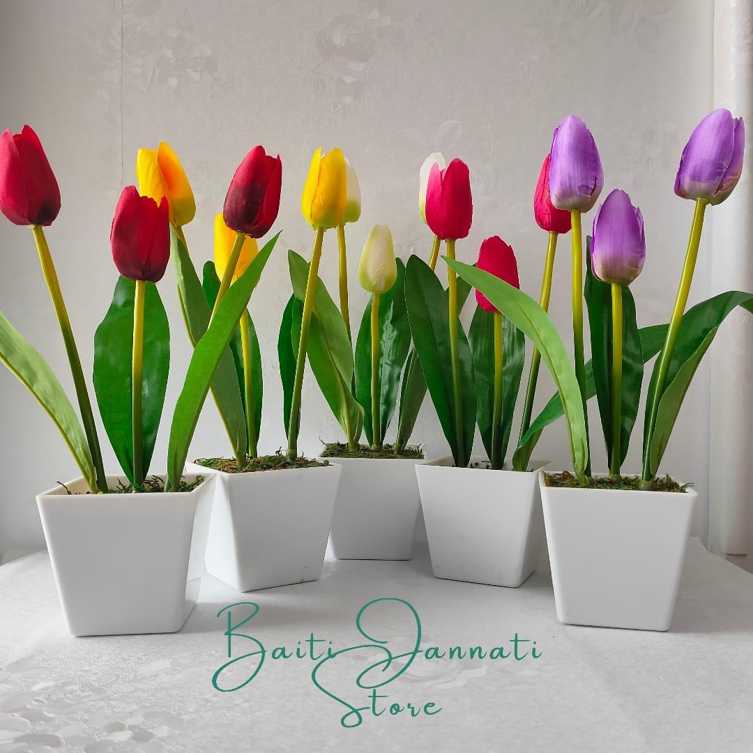 Toko Bunga Baiti Jannati Store Bunga Tulip Furniture Dekorasi Rumah Bunga Artifisial Lazada Indonesia