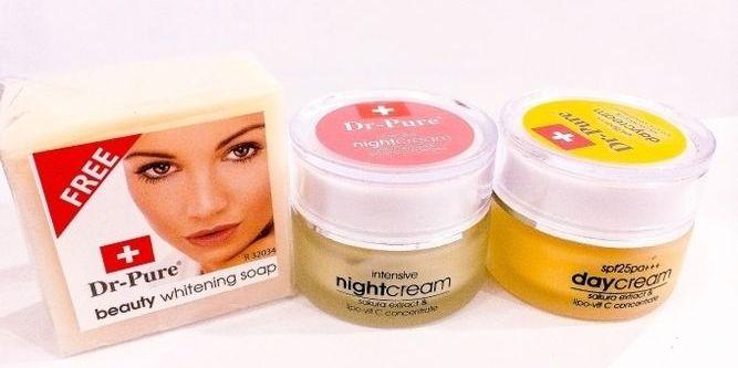 PAKET SET DR PURE Whitening Cream BPOM Original - Dr Pure Original Paket Face Whitening Cream BPOM Set Krim Pagi Malam dan Sabun Perawatan Wajah Original ...