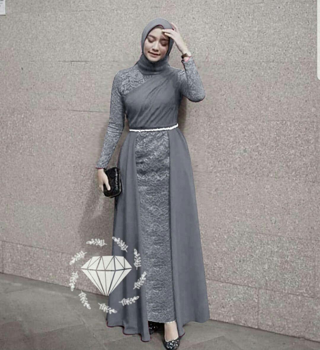 Gamis brokat wanita terbaru / gaun pesta brokat / gaun brukat wanita /  gamis brukat wanita berkualitas / wibisana store / alg laksha