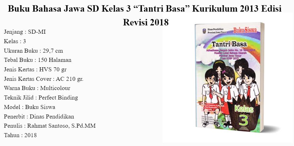 Buku Bahasa Jawa Sd Kelas 3 Tantri Basa Kurikulum 2013 Edisi Revisi 2018 Lazada Indonesia