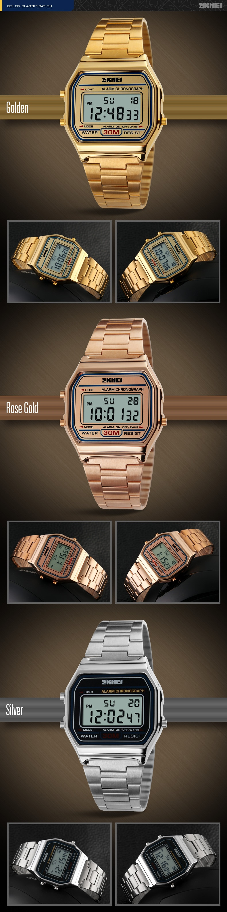 Skmei Digital Casual Men Stainless Strap Watch Anti Air Water Jam Tangan Casio 1123 Original Spesifikasi Dari Resistant Wr 30m Dg1123 Pria Formal Kerja Tali Besi Fashion