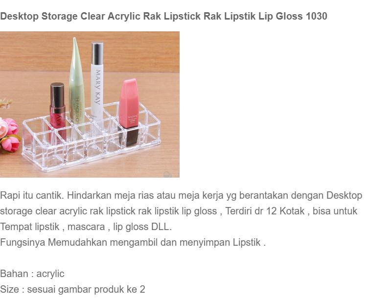 BISA COD - Desktop Storage Clear Acrylic Rak Lipstick Rak Lipstik Lip Gloss 1030 - A675 | Lazada Indonesia