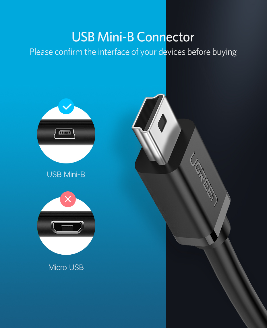 USB 2.0 Type A Female to Micro B Female Adapter Converter For Android Cellphones