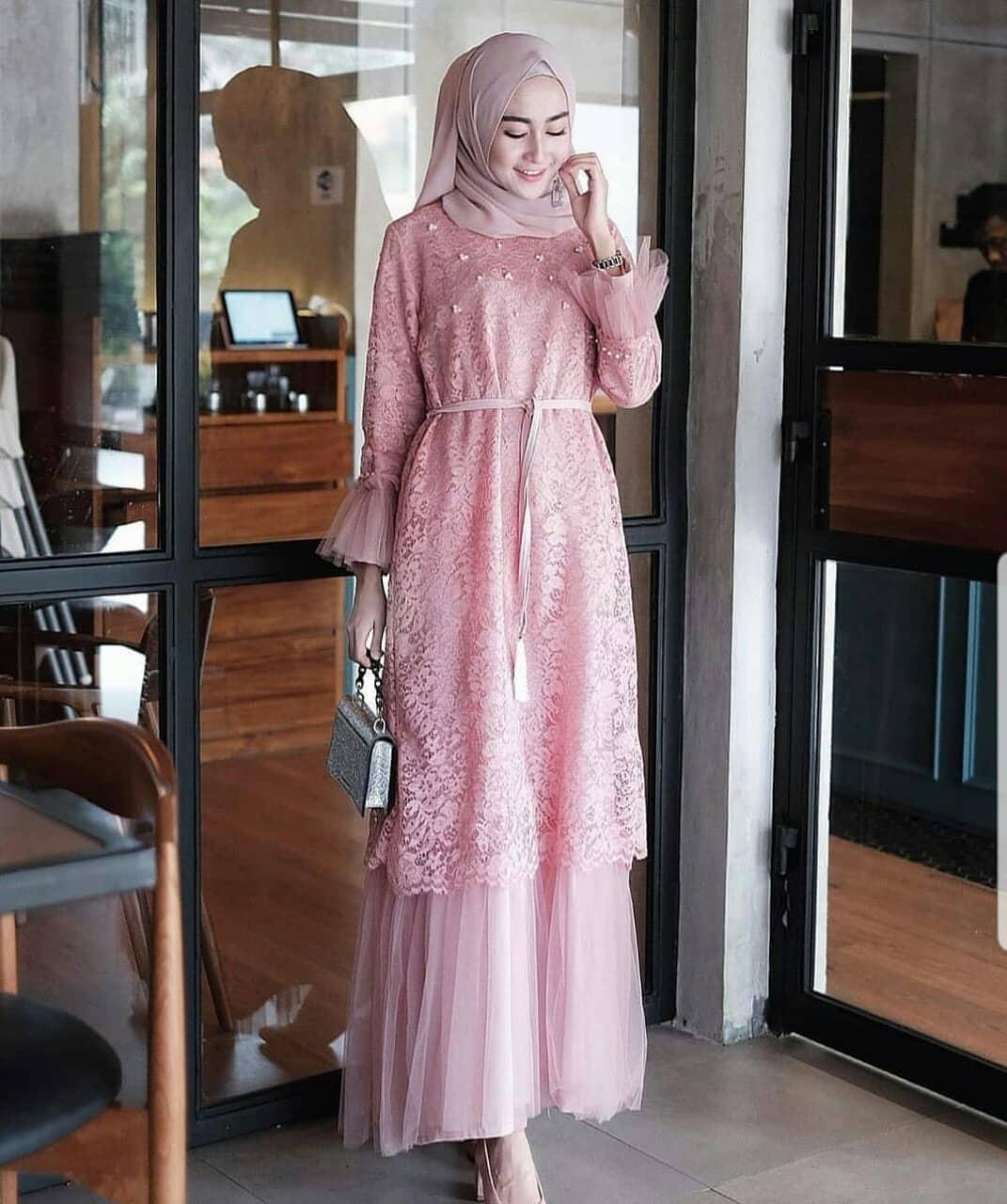 Humaria Dress / Dress Wanita / Gamis Brukat / Gaun Pesta / Baju Kebaya /  Gamis Wanita Terbaru / Pakaian Muslim Wanita / Kebaya Wisuda / Dress Remaja  /