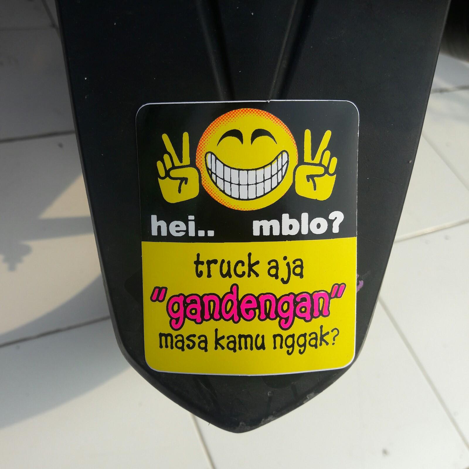 Stiker Motor Warning Kata Kata Lucu Unik 1