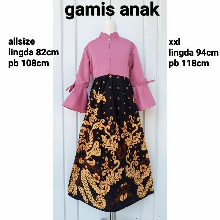 Foto Baju Batik Anak Modern Gamis Batik Anak Perempuan Modern Dress Batik Maxi Dress Lazada