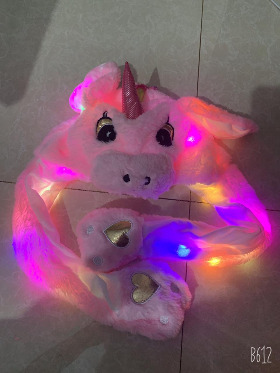 Topi Model Telinga Karakter Bergerak Lucu Bunny Hat Led Karakter Lucu Import RANDOM