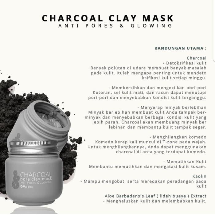 Ms Glow Pore Clay Mask Masker Wajah Ms Glow Masker Green Tea Masker Charcoal Isi 100gr Bakul Cantik Lazada Indonesia