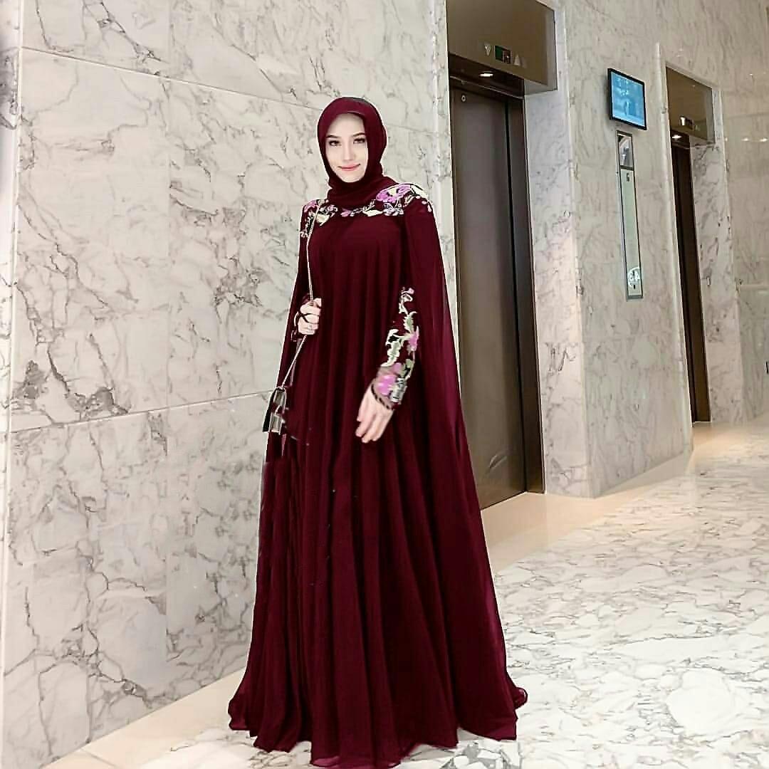 NEW COLLECTION EVERYDAY Cape Noela Bordir / maxi terbaru / gamis muslim /  maxi gamis / edisi lebaran / baju lebaran / gamis lebaran / fashion terbaru