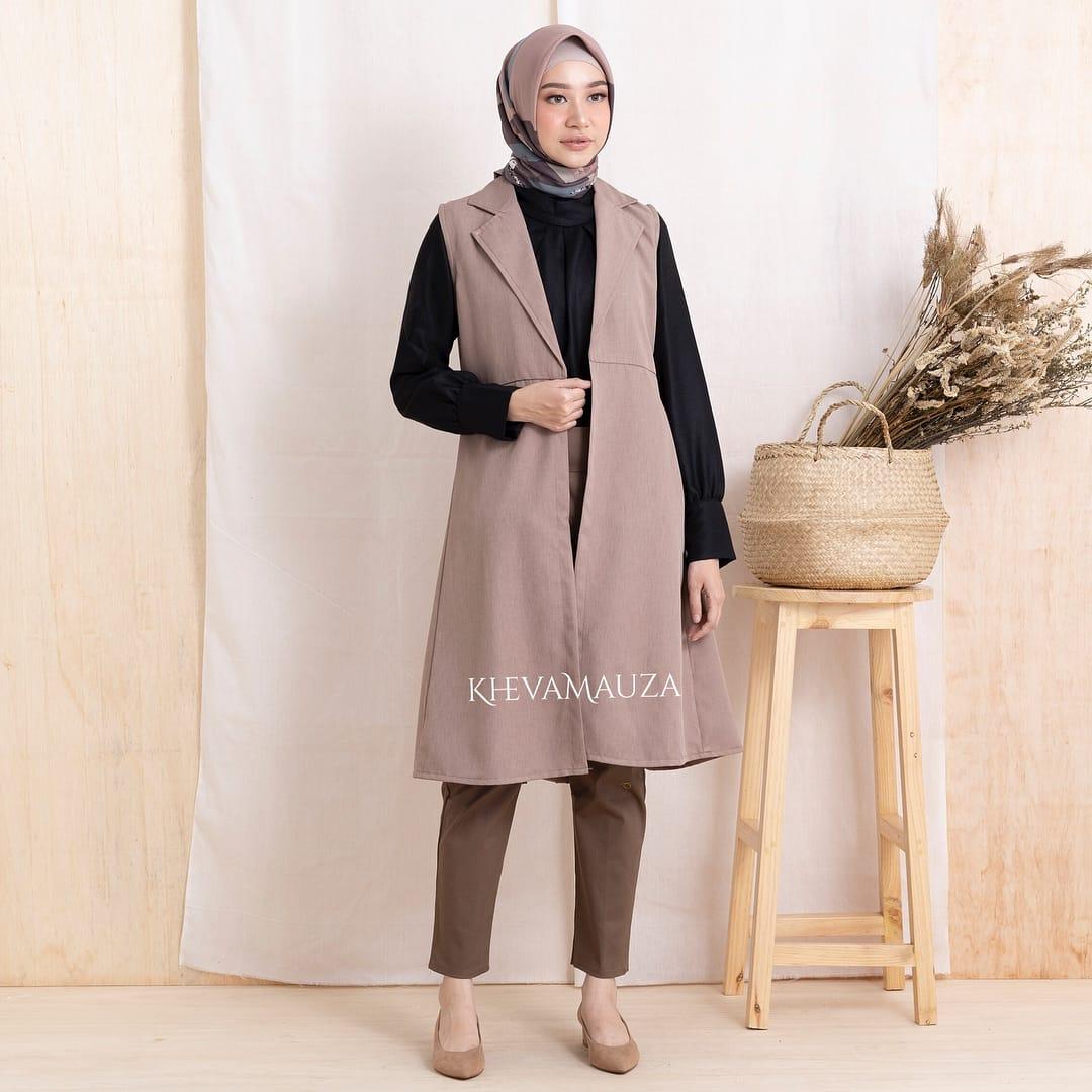 Baju Wanita Muslimah Casual Vest Balotelli Blazer Tanpa Lengan Dapat Luaran Blazer Modern Casual Pakaian Wanita Kekinian Atasan Muslim Hijab Luaran Casual Blazer Fashion Murah Blazer Simple Casual Baju Wanita Modern 2020