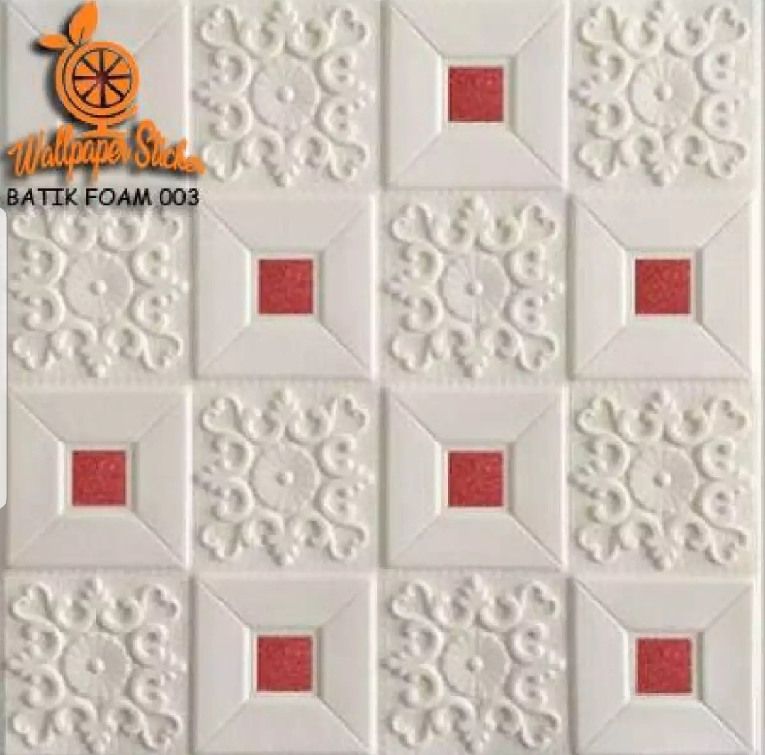 MT Wallpaper Dinding Foam 3D TIMBUL Batik Foam Size 70 X 77 CM Batik Foam 003