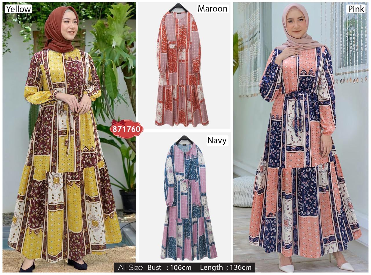 Gamis Extu Motif Bunga Membeli Jualan Online Baju Muslim Jumpsuit Dengan Harga Murah Lazada Indonesia