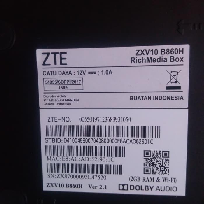 Yangma - Android TV Box ZTE B860H Ram 2GB Full Root dan Unlock