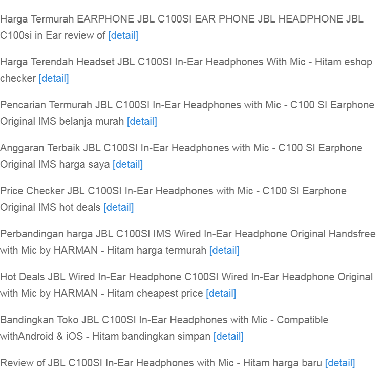 ... ear headphone with mic compatible with android ios hitam original jbl c100si in