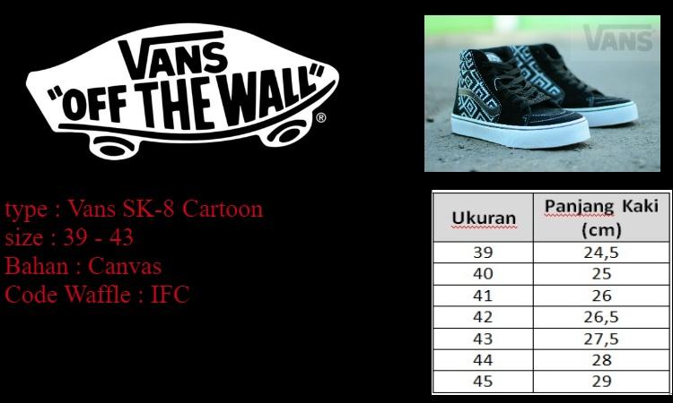 Sepatu Skate Pria Vans SK8 SK 8 High Motif Batik Off The Wall
