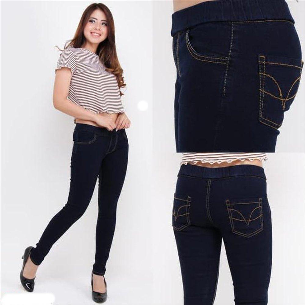 New Celana Legging Denim Celana Legging Wanita Lejing Wanita Lazada Indonesia