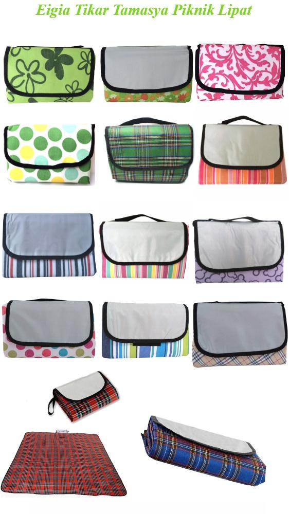 Eigia Tikar Tamasya Piknik Lipat Kotak Karpet Outdoor Perlengkapan Rekreasi Mudah Kemas Tas Bahan Nylon Fleece