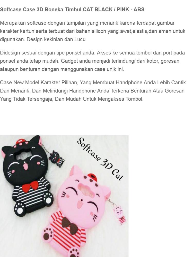 Softcase 3D Case For Samsung Galaxy J1 MINI Boneka Timbul 4D Karakter CAT BLACK / PINK