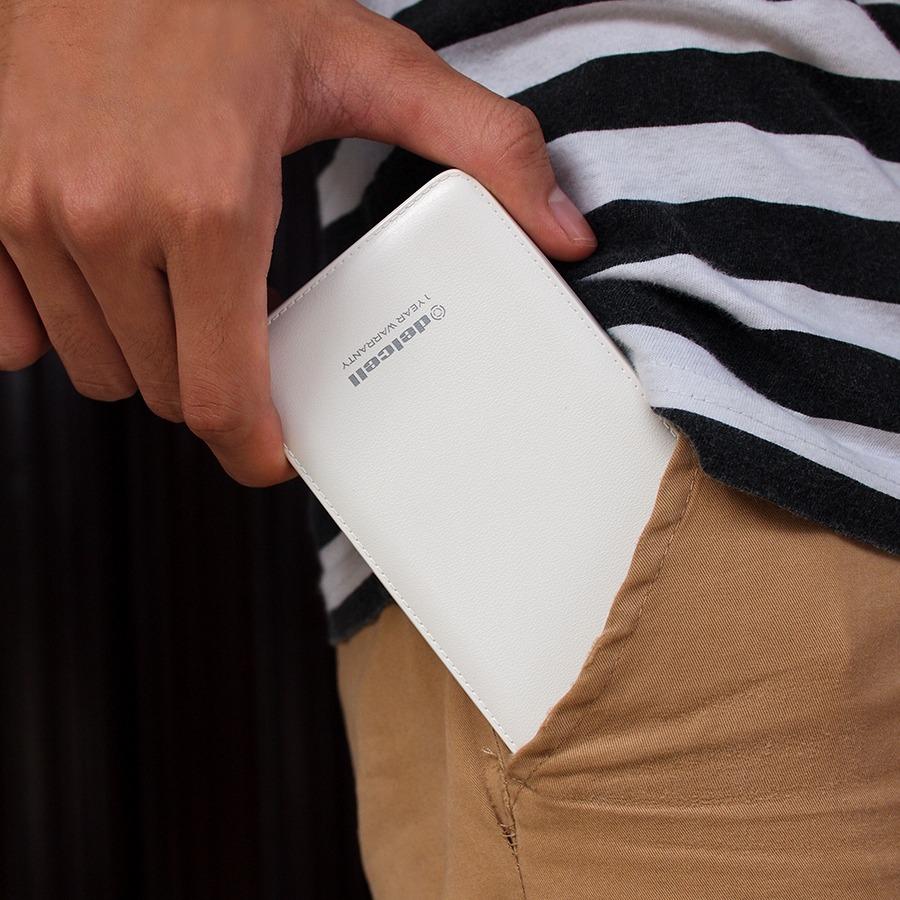 Delcell 10500mah Powerbank Note Real Capacity Polymer Battery Build Original Power Bank Terbaru Keluaran Dari Memiliki Desain Yang Sangat Tipis Dan Ringan Dengan Kapasitas Sesungguhnya Sebesar 10500 Mah