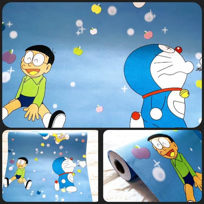 Restu Bunda Wallpaper Dinding Doraemon Ukuran 45 Cm X 10 M Bahan Pvc Lazada Indonesia
