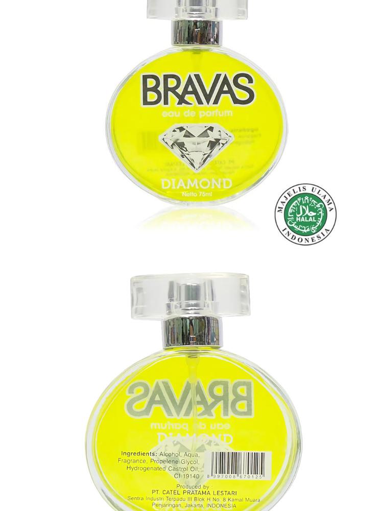 BRAVAS DIAMOND SILVER 75 ML Perfume Eau De Parfum Original Halal XX-CT Perak | Lazada Indonesia