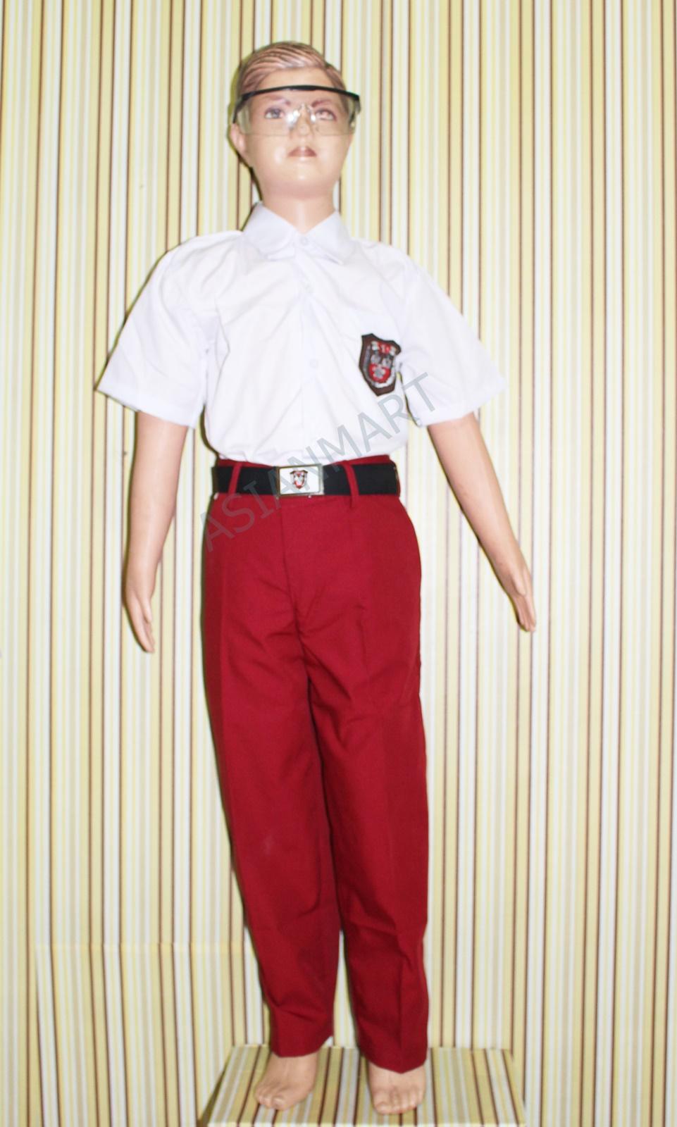 Seragam Sekolah Sd Merah Putih Baju Pendek Celana Panjang Untuk Kelas 1 6 Sd Asianmart Ukuran Silahkan Lihat Ditabel Deskripsi Lazada Indonesia
