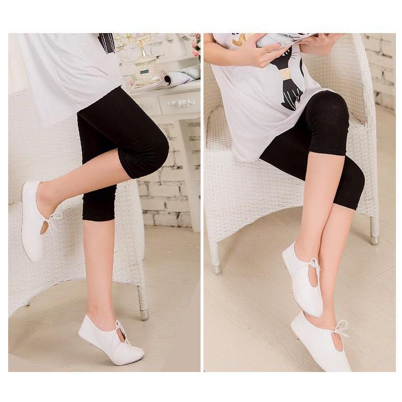 Makegrosir Celana Legging 3 4 Wanita Legging Polos Basic Wanita Celana Leging Celana Olahraga Lazada Indonesia