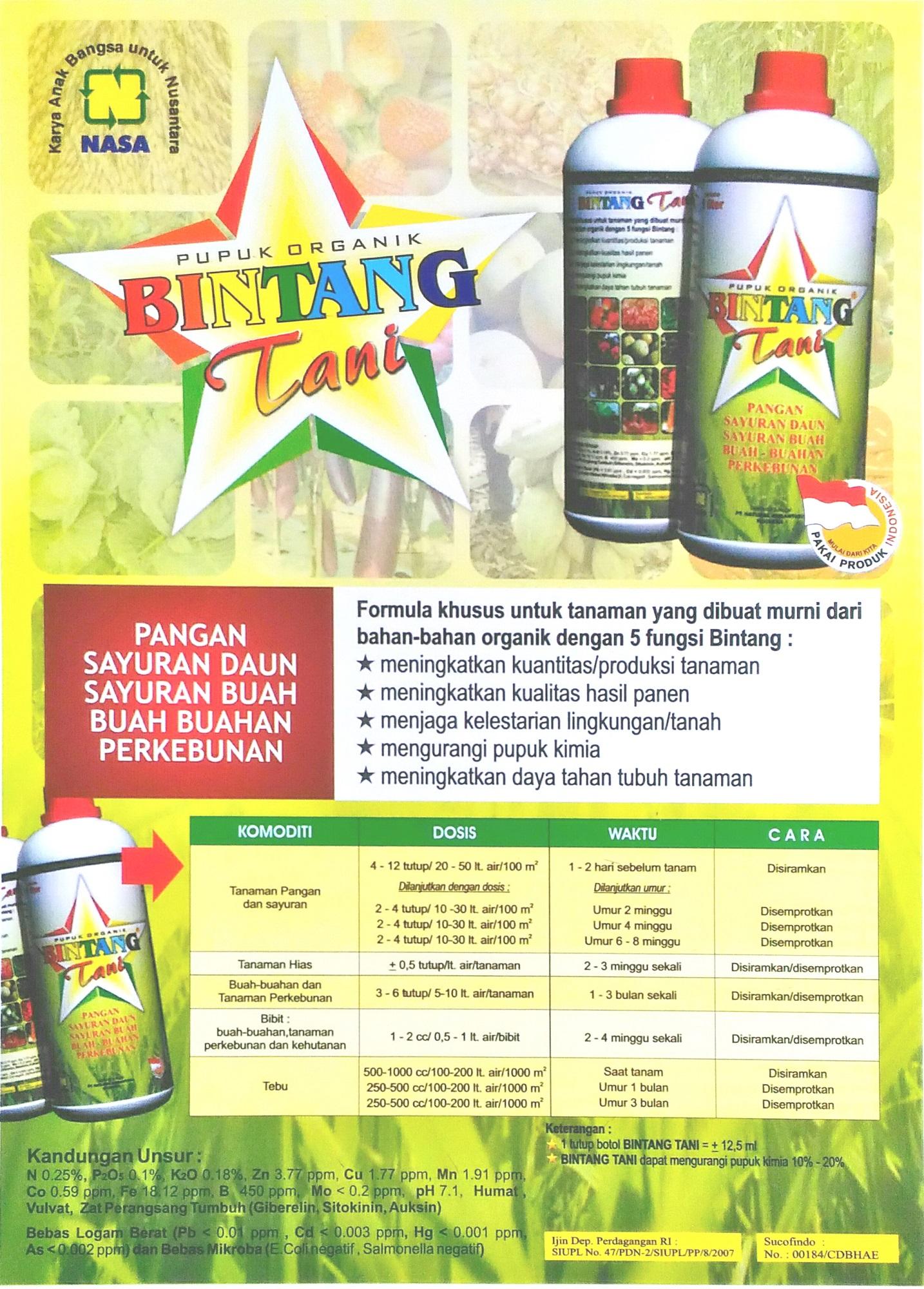 Paket Pupuk Pertanian Organik Nasa Pocnasa Hormonik Aero Lazada Indonesia