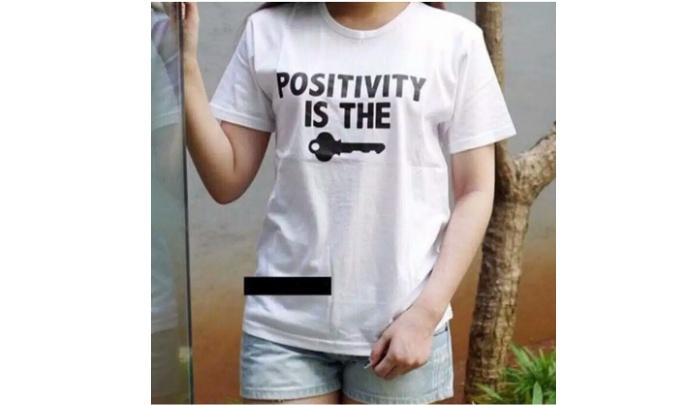 Vanessa Tumblr Tee / T-Shirt POSITIVITY IS THE KEY / T-shirt Wanita / Kaos Cewek / Tumblr Tee Cewek / Kaos Wanita Murah / Baju Wanita Murah / Kaos Lengan ...