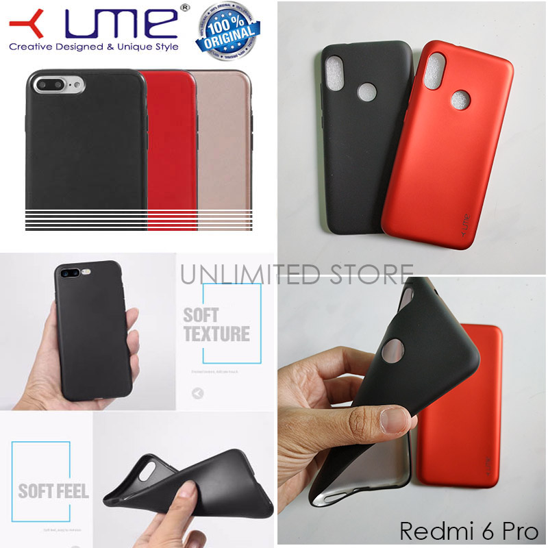 Spesifikasi dari Jelly Case Ume Emerald Softcase untuk Xiaomi MiA2 Lite - Mi A2 Lite - Redmi 6 Pro Casing Ultra thin Soft case TPU Doff Color Silikon ...