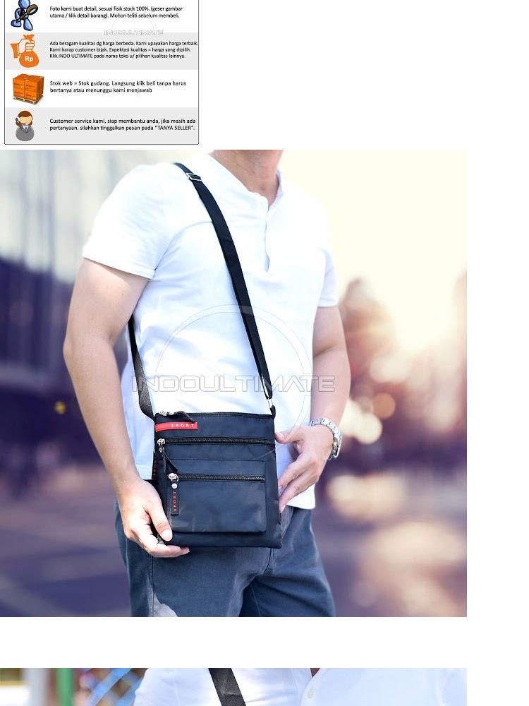 Tas Selempang Pria Sport Double Unik Outdoor Import Unisex Slempang Sling  Bag Cocok Untuk Semua Usia JSL-5257 - Black  9ecfaaf1b3