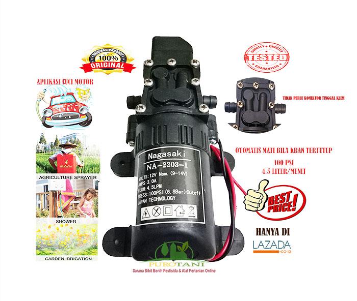 Pompa Air Minum Dinamo Dc Sprayer Elektrik Cuci Motor Plus Konektor Lazada Indonesia