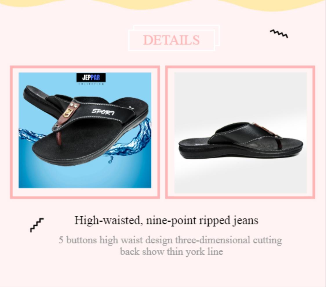 Jeppar Titan Flip Flop ( Women ) - Jeppar Web Stripe Thong Sandal - Sendal Wanita