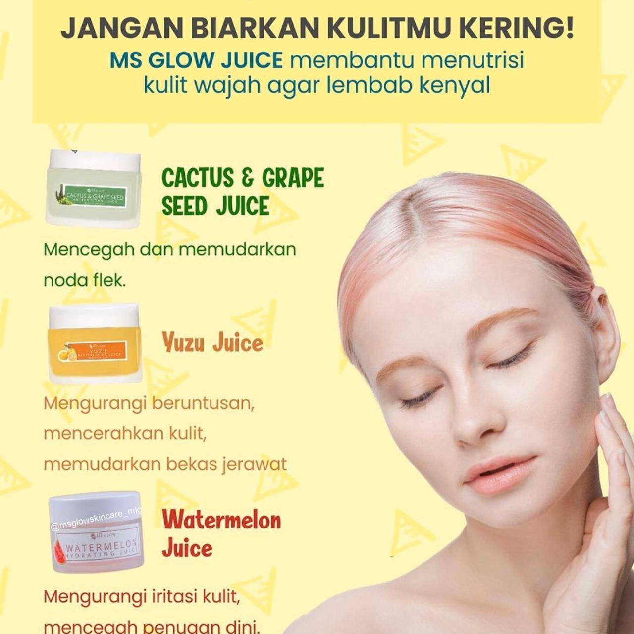 Hydrating Juice Watermelon Ms Glow Melembabkan Kulit Mencerahkan Mengatasi Kulit Kering Menghilangkan Kusam Mengatasi Iritasi Dan Mengelupas Lazada Indonesia