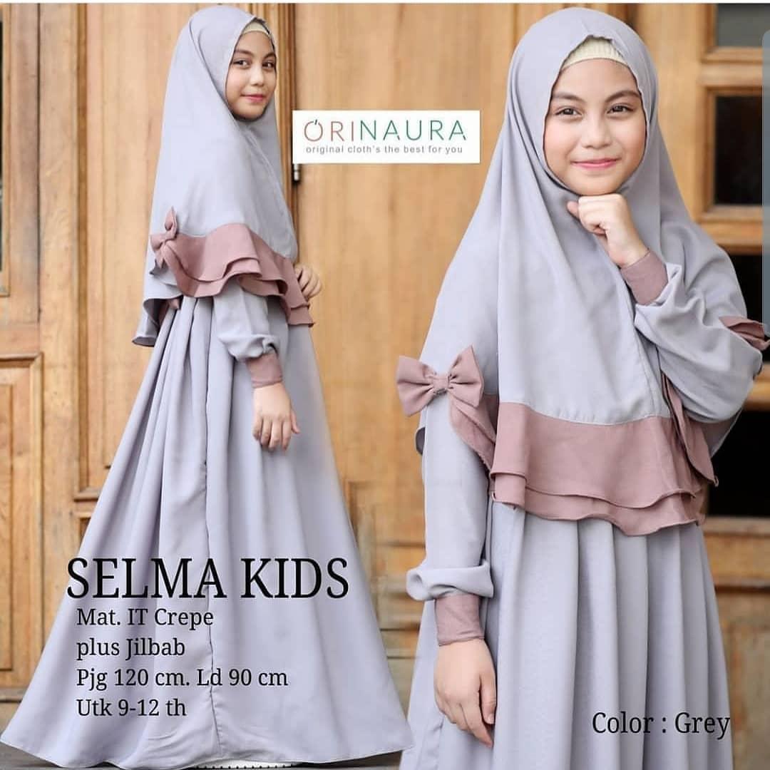 Selma Kid Gamis anak Perempuan 10 tahun / Baju Gamis Anak Perempuan 10  tahun / Baju Gamis Anak Wanita / Baju Gamis Syari Anak