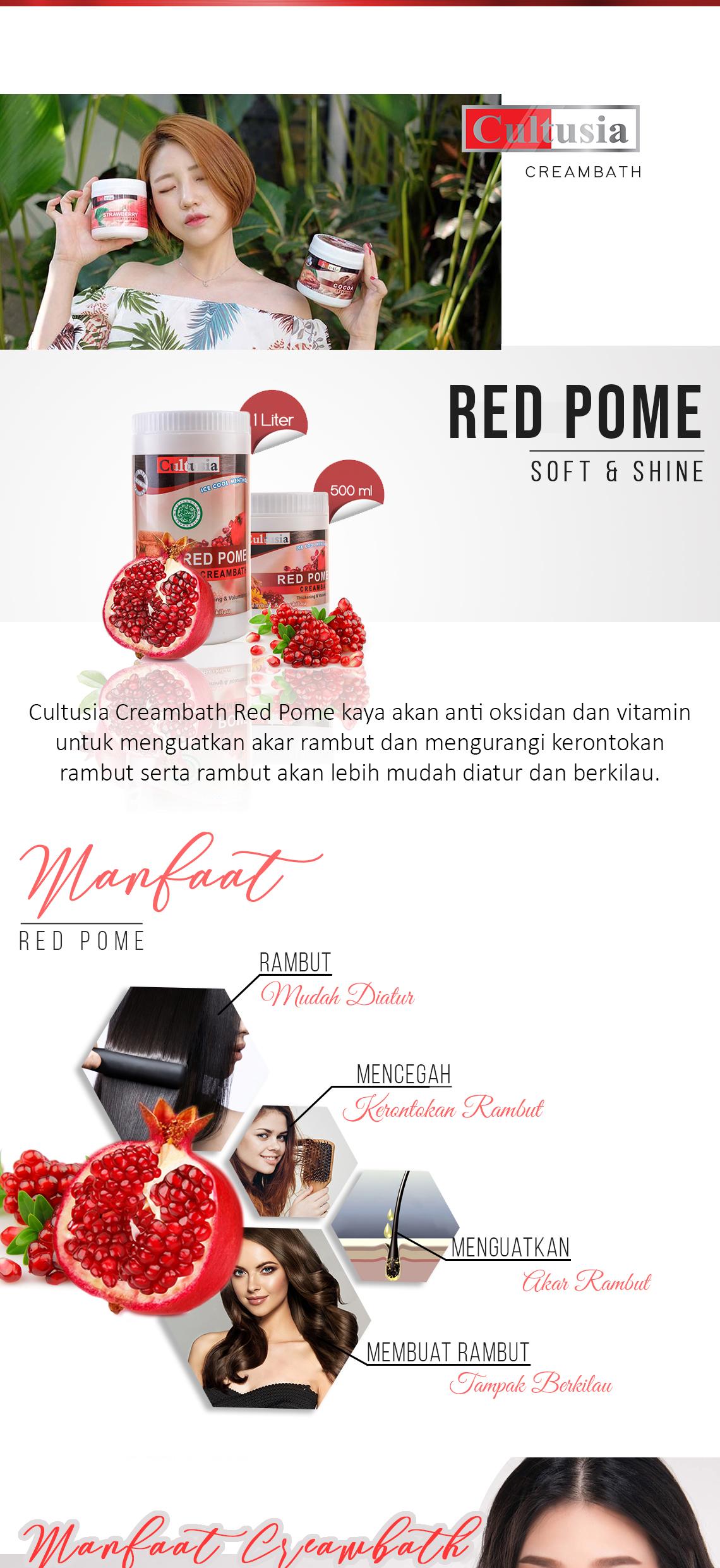 Cultusia Creambath Red Pome 1000ml Lazada Indonesia