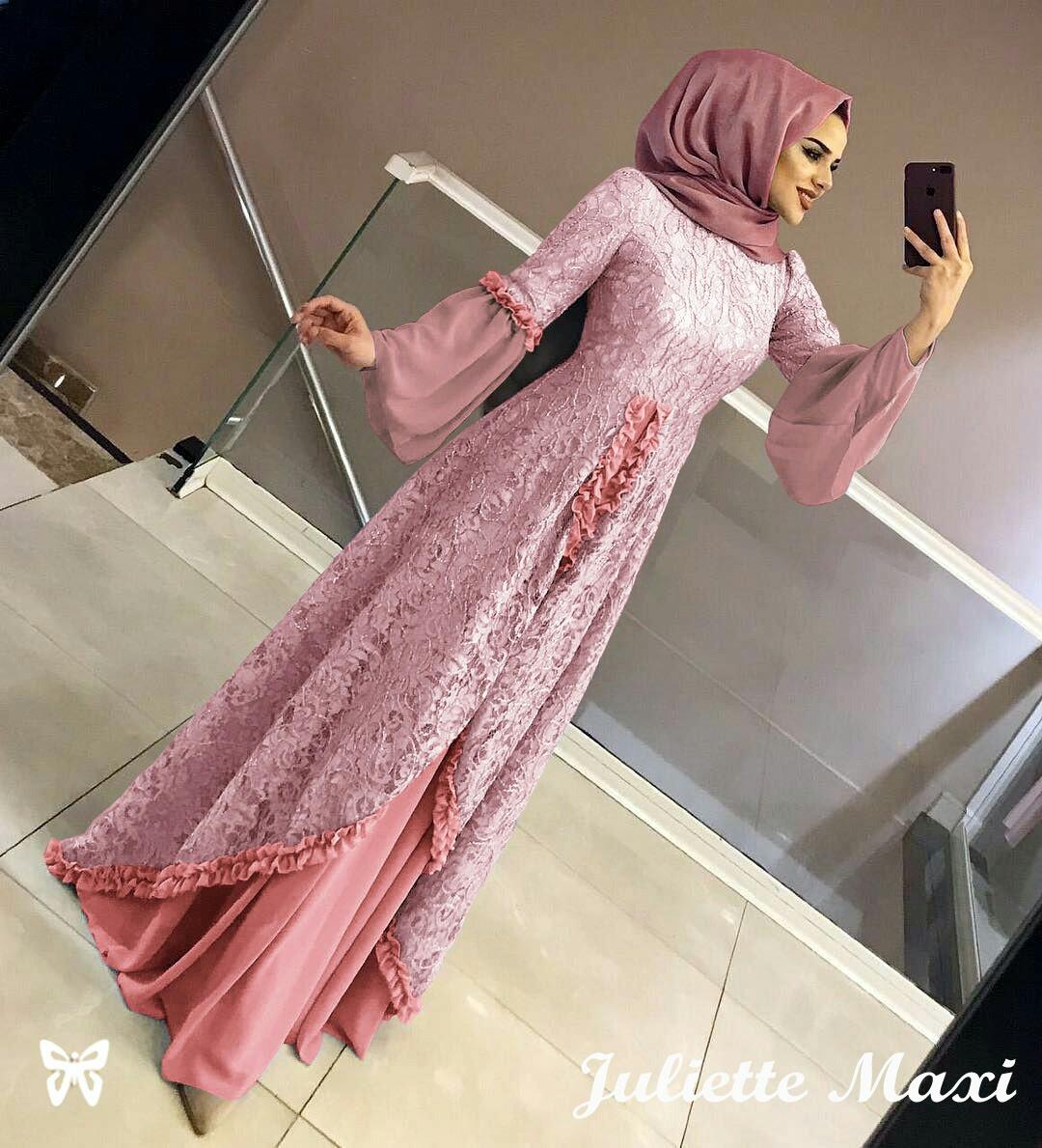 BE COLLECTION baju gamis Juliette maxi cantik anggun fashion wanita terkini  Gamis Wanita Hijab - Gamis Mewah - Gamis Elegan - Gamis Simple - Gamis
