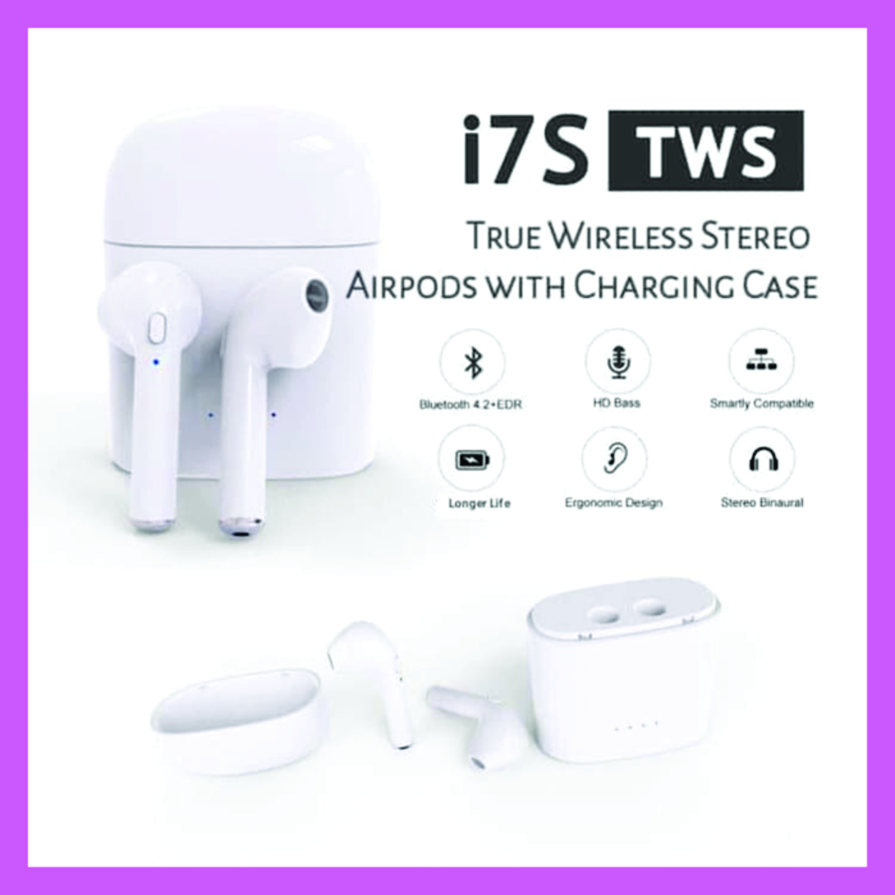 I7s Tws Headset Bluetooth Airpods True Wireless Iphone Android Lazada Indonesia