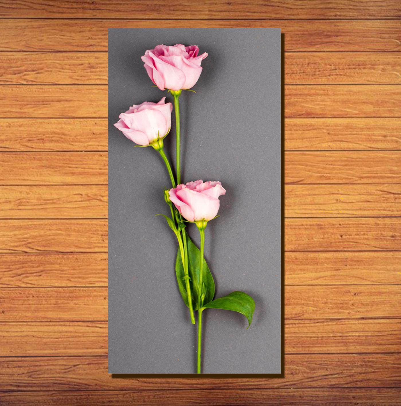 Dekorasi Rumah Hiasan Dinding Bunga Pink 3 Tangkai Lazada Indonesia