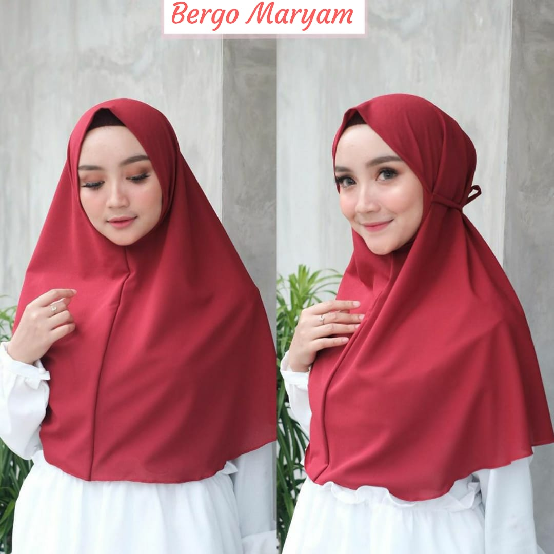 Bergo Maryam Bergo Maryam Diamond Khimar Tali Khimar Non Pet Hijab Instan Bergo Niisma Jilbab Instan Lazada Indonesia