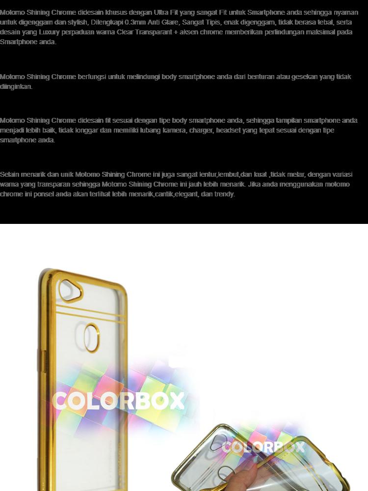 Motomo Chrome Oppo F7 Case Shining Chrome / Ultrathin Oppo F7 List Chrome / Jelly Case